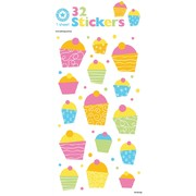 Glitter Cupcakes Stickers (33 Stickers)