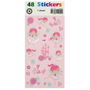 Stickers Two Fold Ballerina Fairy Pk1