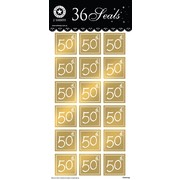 Gold 50th Birthday Seals (36 Seals)