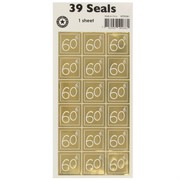 Stickers Two Fold 60 Gold (1 Sheet of 39 Stickers)