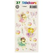 Stickers Two Fold Fairies (1 Sheet of 37 Stickers)