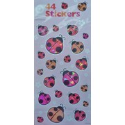 Ladybug Party Stickers (1 Sheet of 44 Stickers)