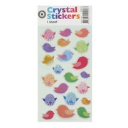 Stickers Crystal Birds (1 Sheet of 21 Stickers)