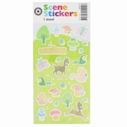 Deer & Forest Stickers Pk 1
