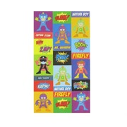 Stickers 1 Fold Super Heros (1 Sheet of 51 Stickers)