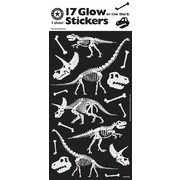 Assorted Glow in the Dark Dinosaurs Stickers (17 Stickers)