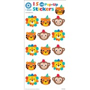 Assorted Pop Up Animals Stickers (15 Stickers)