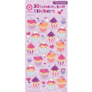 Assorted Scratch & Sniff Cupcakes Stickers (30 Stickers)