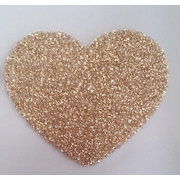 Gold Glitter Hearts Seals (30 Seals)