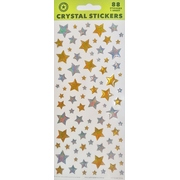 Assorted Size Gold & Silver Star Stickers (72 Stickers)