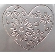 Stickers Silver Gilded Hearts Large (1 Sheet of 21 Stickers)