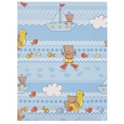 Gift Wrap Nautical Teddy 700mm x 495mm Pk1