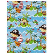 Gift Wrap Pirate Birthday 700mm x 495mm Pk1 CG