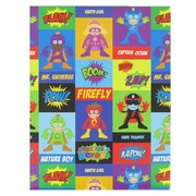 Super Hero Wrapping Paper - 700mm x 495mm Pk 1