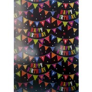 Happy Birthday Bunting Gift Wrap (700mm x 495mm) Pk 1