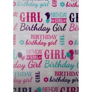Birthday Girl Gift Wrap (700mm x 495mm) Pk 1
