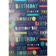 Birthday Boy Gift Wrap (700mm x 495mm) Pk 1