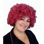 Wig Curly Clown Afro Maroon Pk1 HT