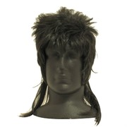 Party Wig - Black Mullet Pk1