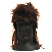 Party Wig - Brown Mullet Pk1