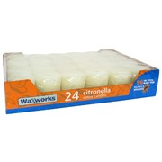 Candle Citronella Votive White Pk24