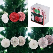 Assorted Mini Christmas Pinwheel Decorations Pk 12