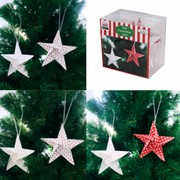 Assorted Paper Star Decorations Pk 12