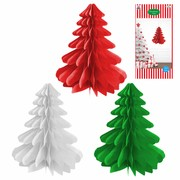 Assorted Hanging Paper Tree Decorations 50cm Pk 3