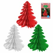 Assorted Hanging Paper Tree Decorations 10cm Pk 9