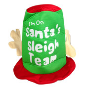 Santas Sleigh Team Plush Top Hat Pk 1
