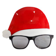 Santa Hat Party Glasses Pk 1