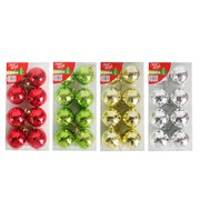 Assorted Christmas Disco Ball Baubles 5cm Pk 32