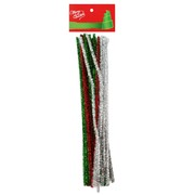 Assorted Metallic Pipe Cleaners 30cm Pk 48