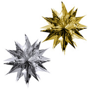 Assorted Christmas Starburst Decorations 48cm Pk2