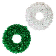Assorted Christmas Wreath Decorations 45cm Pk 2