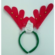 Christmas Antler Headband with Bells Pk 1