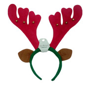 Christmas Antler Headband with Ears Pk 1