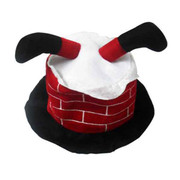 Santa in Chimney Christmas Hat Pk 1