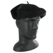 Black French Beret - Wool Pk 1