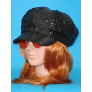 Black Sequin Go Go Hat Pk 1
