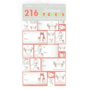 Christmas Designs Stickers Book Pk8 Sheets (216 Stickers)
