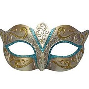 Classic Light Blue Party Mask Pk1