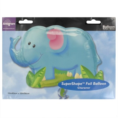 Balloon Foil Supershape Jungle Party Elephant Pk1