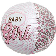 3D Sphere Baby Girl 17in. Foil Balloon Pk 1