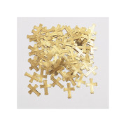 Embossed Gold Crosses Confetti (14g) Pk 1