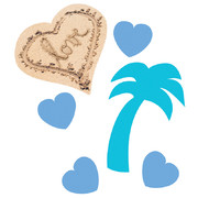 Beach Love Confetti Scatters (14g) Pk 1