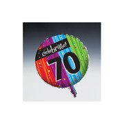 Milestone Celebrations 70 18in Foil Balloon Pk 1