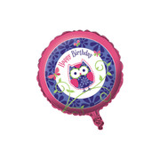 Owl Pal Birthday 18in Foil Balloon Pk 1