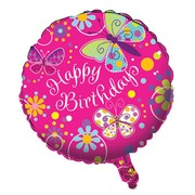 Butterfly Sparkle 18in Foil Balloon Pk 1