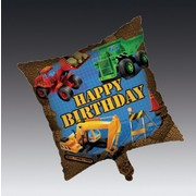 Under Construction Party Balloon -  45cm Square Foil Pk1